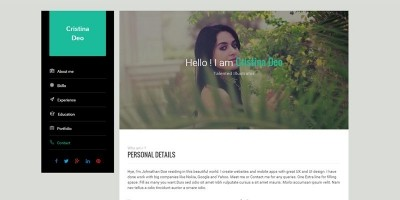 swiftly resume html template