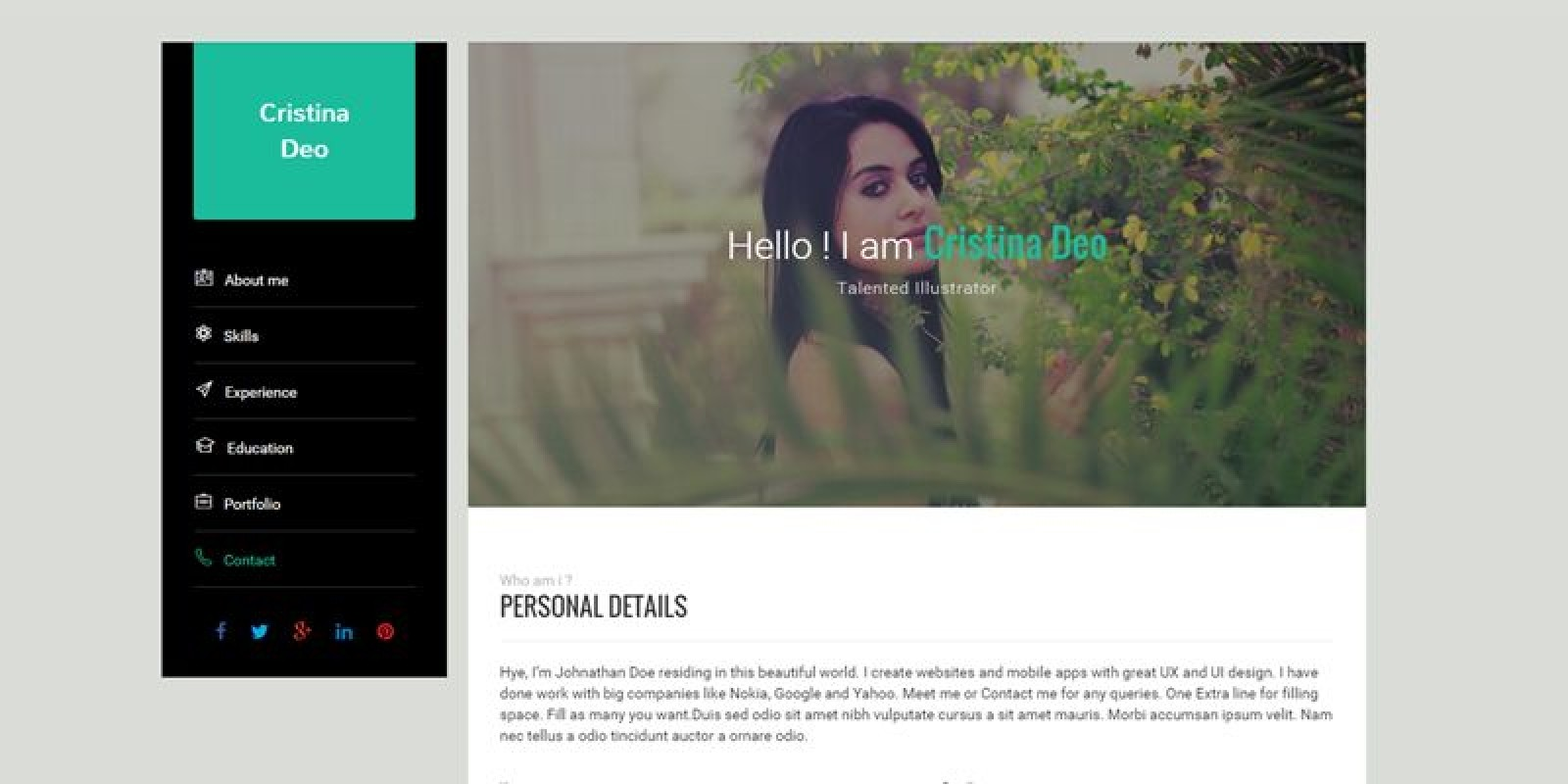 Swiftly - Resume HTML Template - HTML Resume Website Templates ...