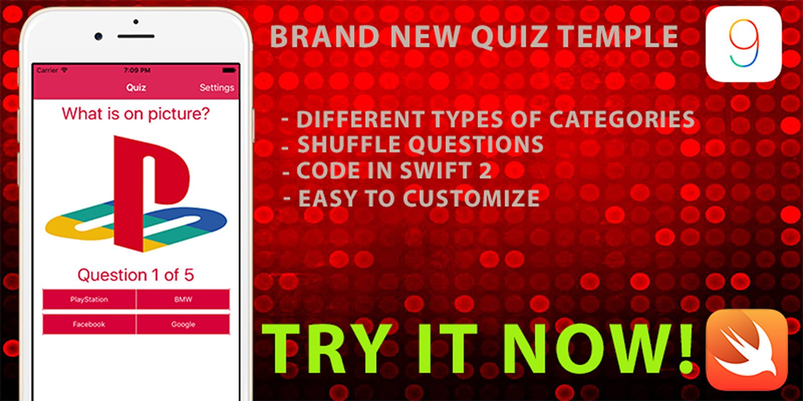 Picture Quiz Game - iOS Game Template