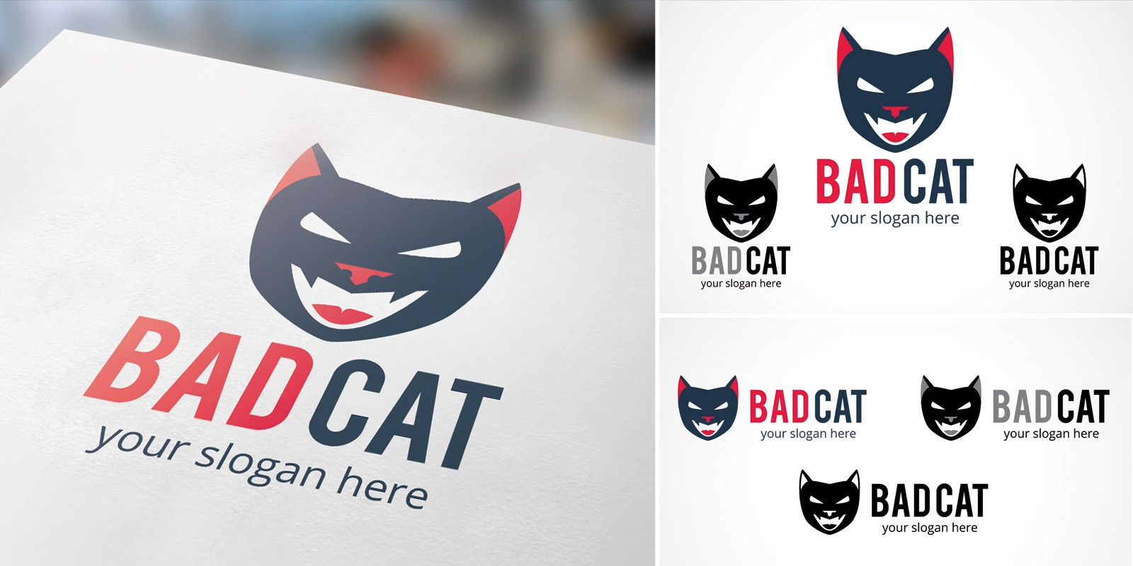 Bad Cat - Logo Template