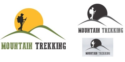 Mountain Trekking - Logo Template