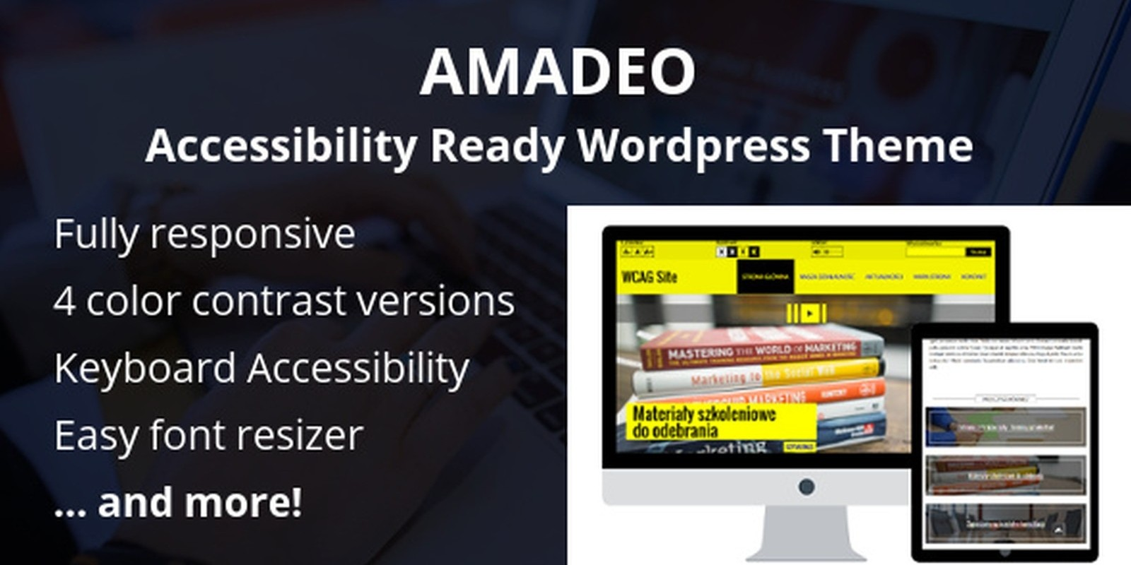 Amadeo Pro - Accessibility Ready WordPress Theme
