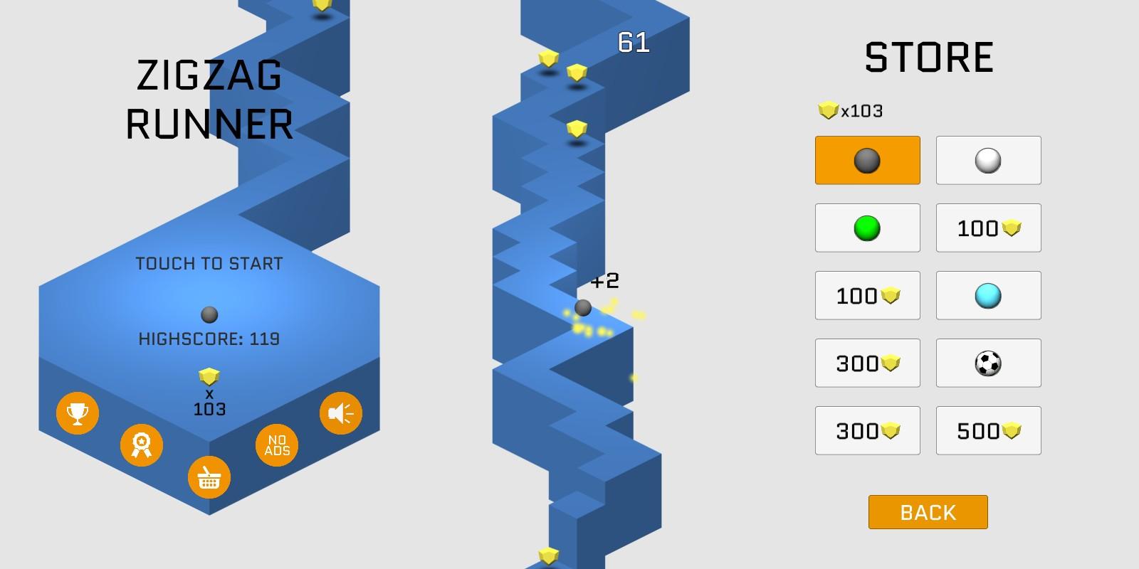 ZigZag Runner - Unity Game Source Code