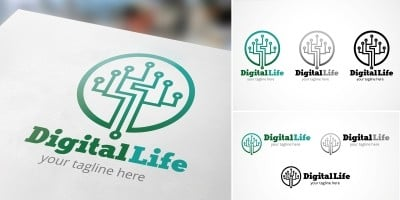 Digital Life - Logo Template