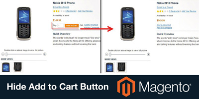 Hide Add To Cart button - Magento Extension