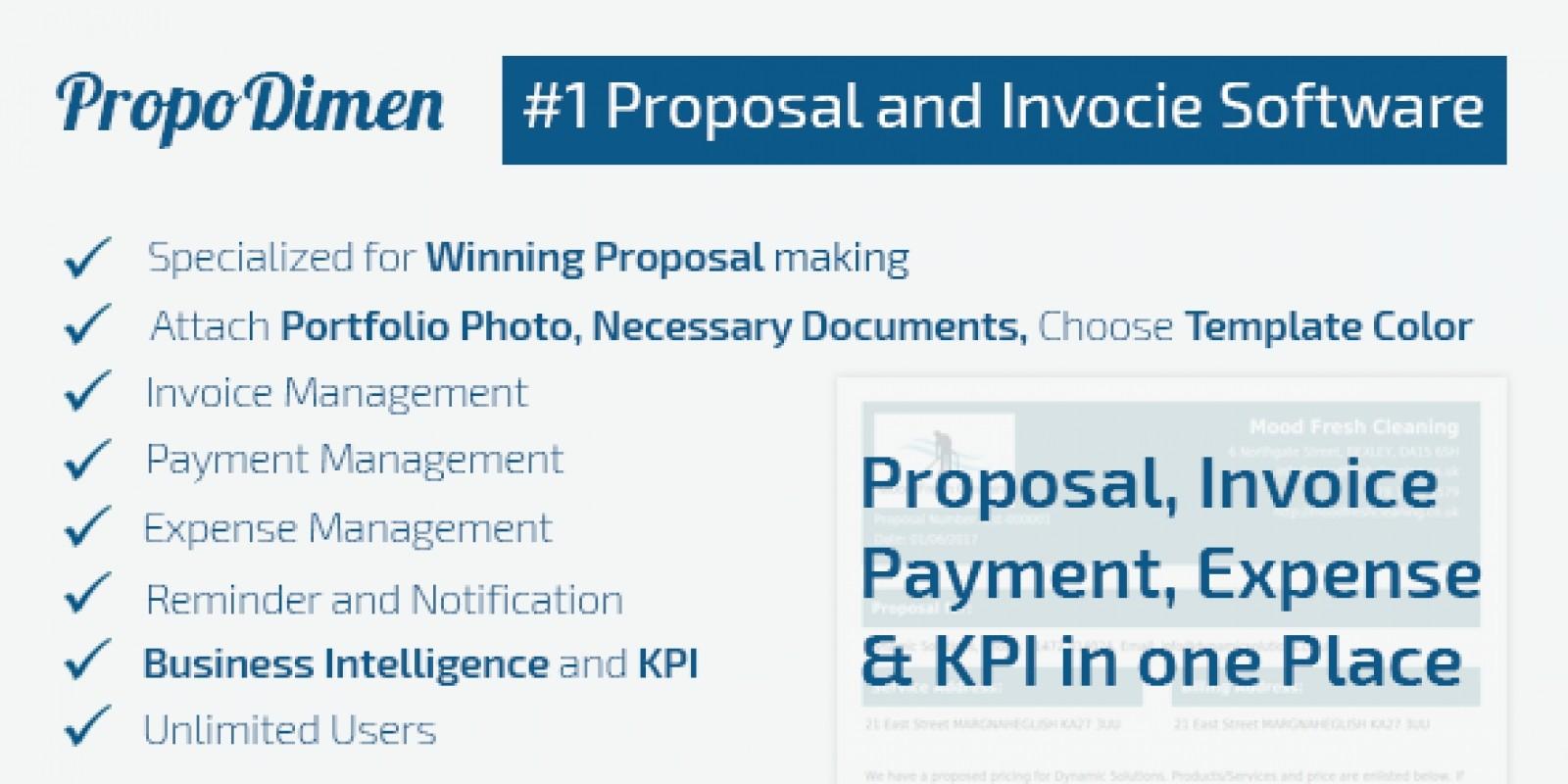 PropoDimen Proposal Invoicing PHP Script Finance PHP Scripts - Php invoice script
