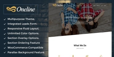 OneLine – Multipurpose WordPress Theme