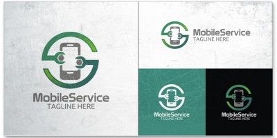 Mobile Service Logo Template