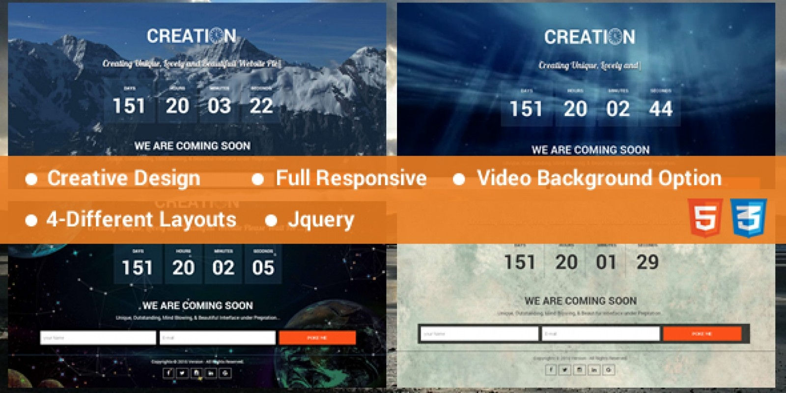 Creation - Coming Soon HTML Template