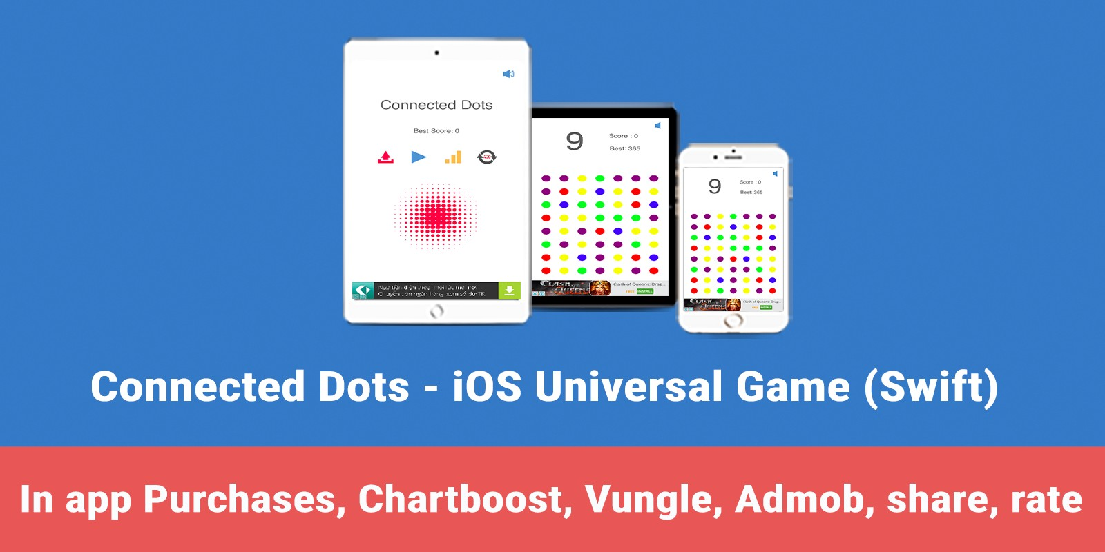 Connected Dots - iOS Swift Game Source Code