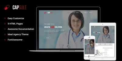 Capsule - One Page Medical HTML5 Template