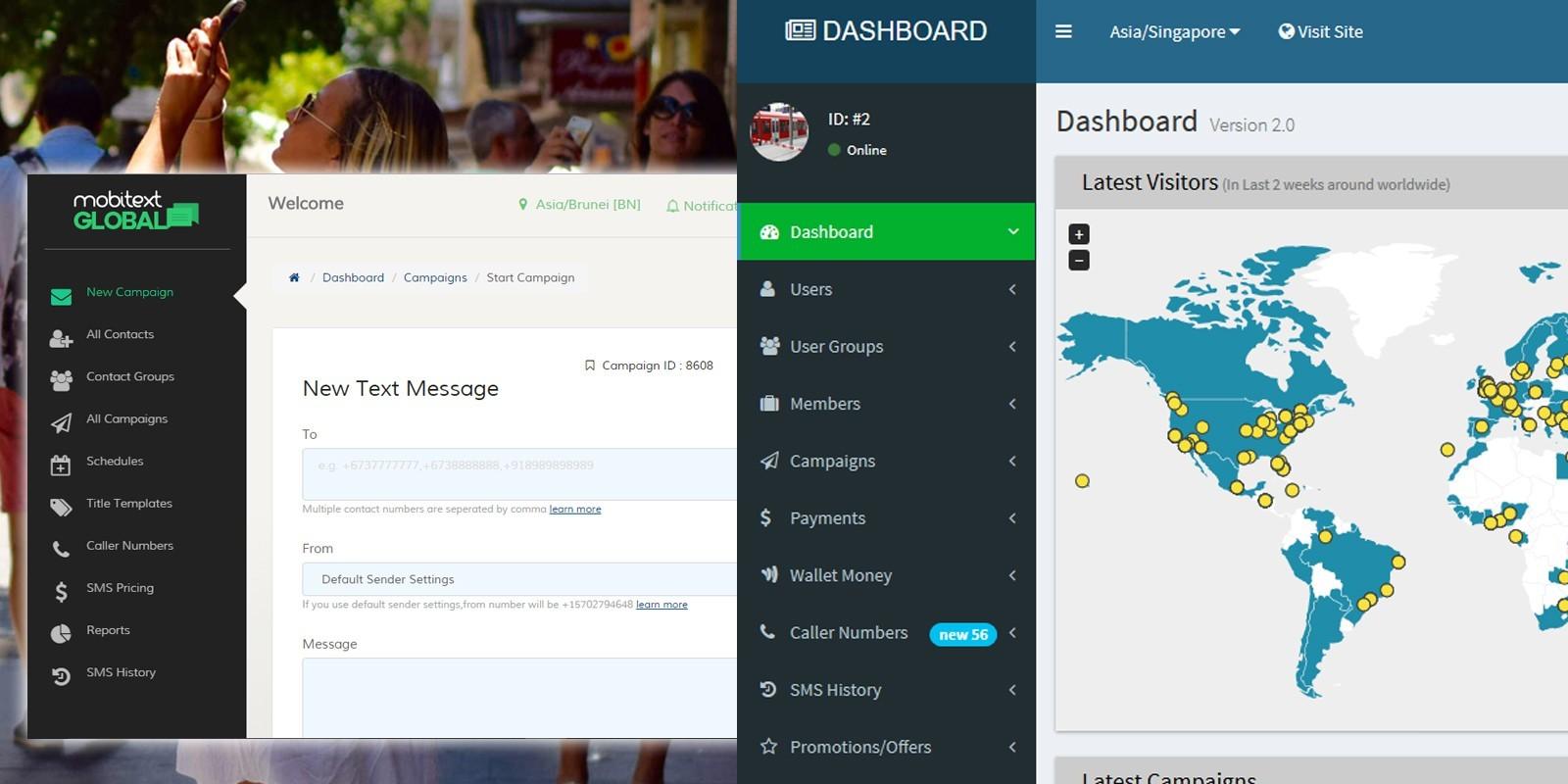 MobiText - Bulk SMS Platform PHP Script