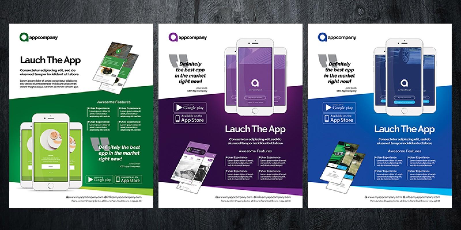 mobile app flyer template volume 4 codester