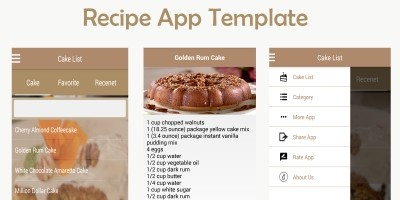 Recipe App Android Template