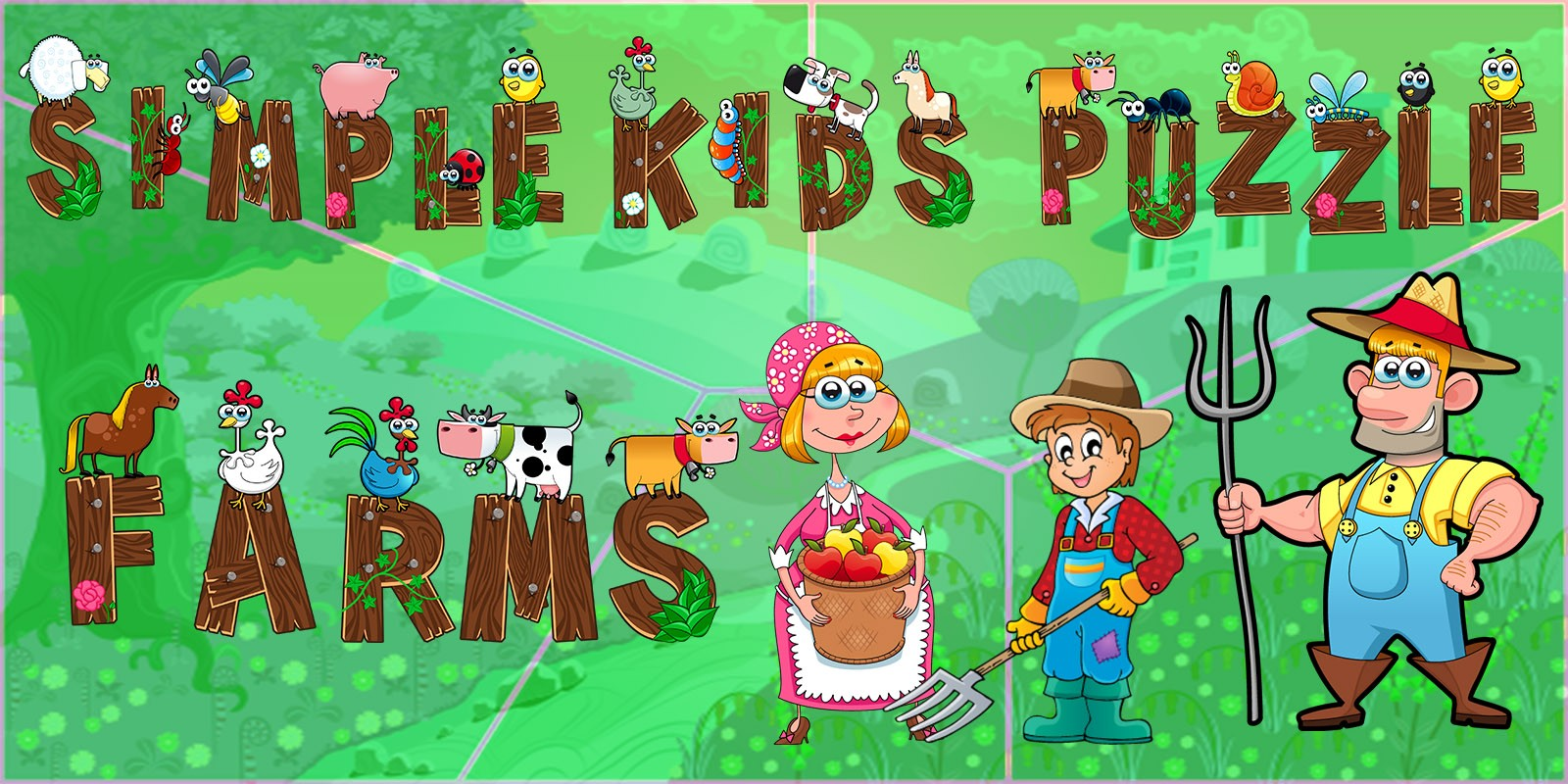 Simple Kids Puzzle Farms