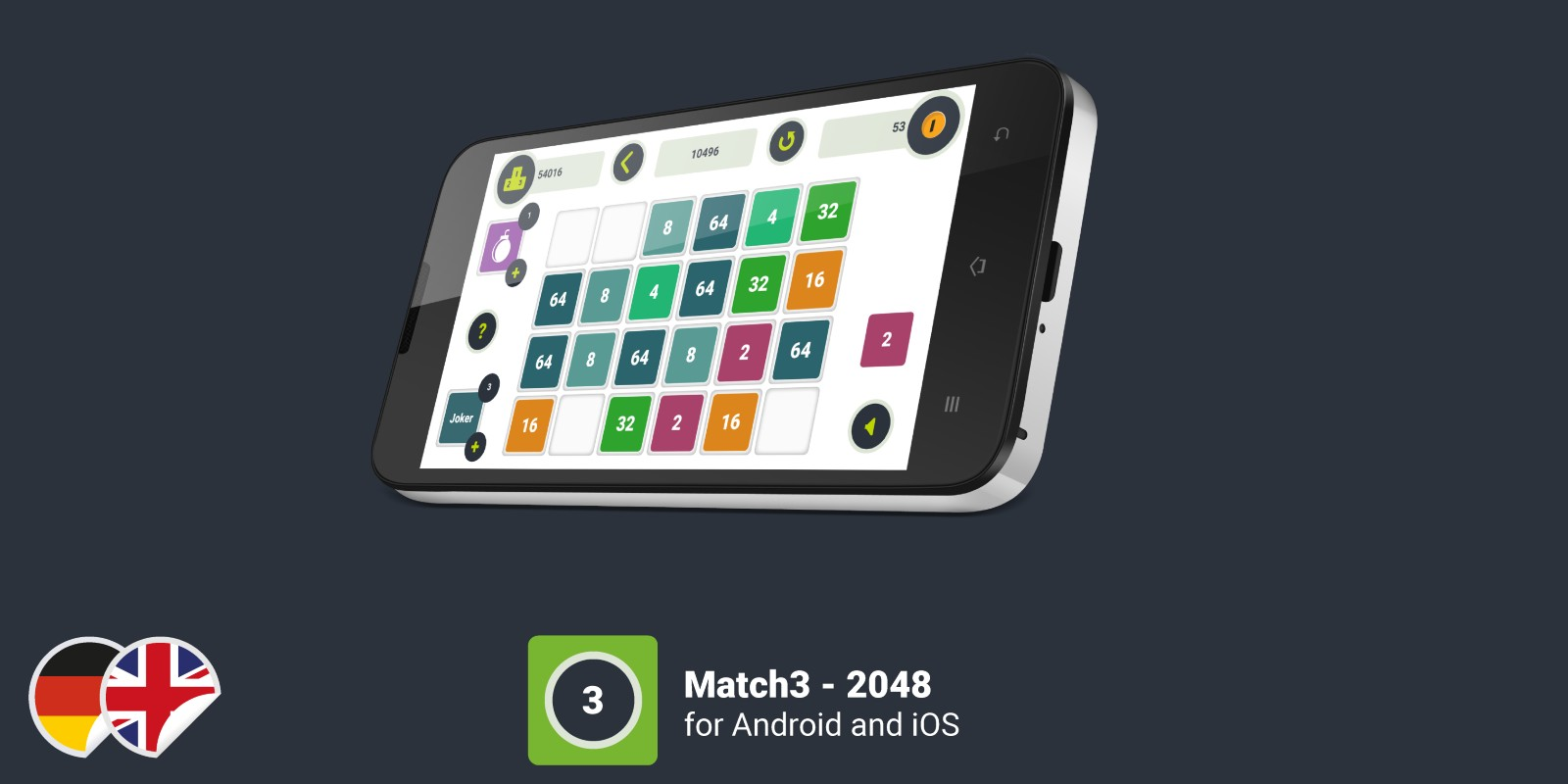 Match3 2048 - Construct 2 Game Template