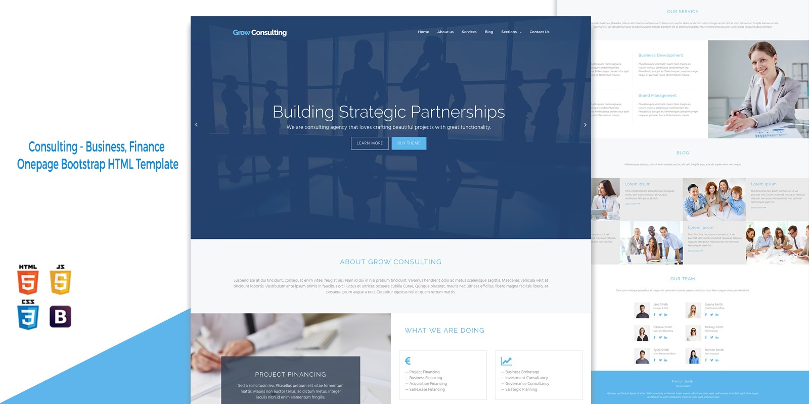 Grow consulting business html bootstrap template business html grow consulting business html bootstrap template friedricerecipe Choice Image