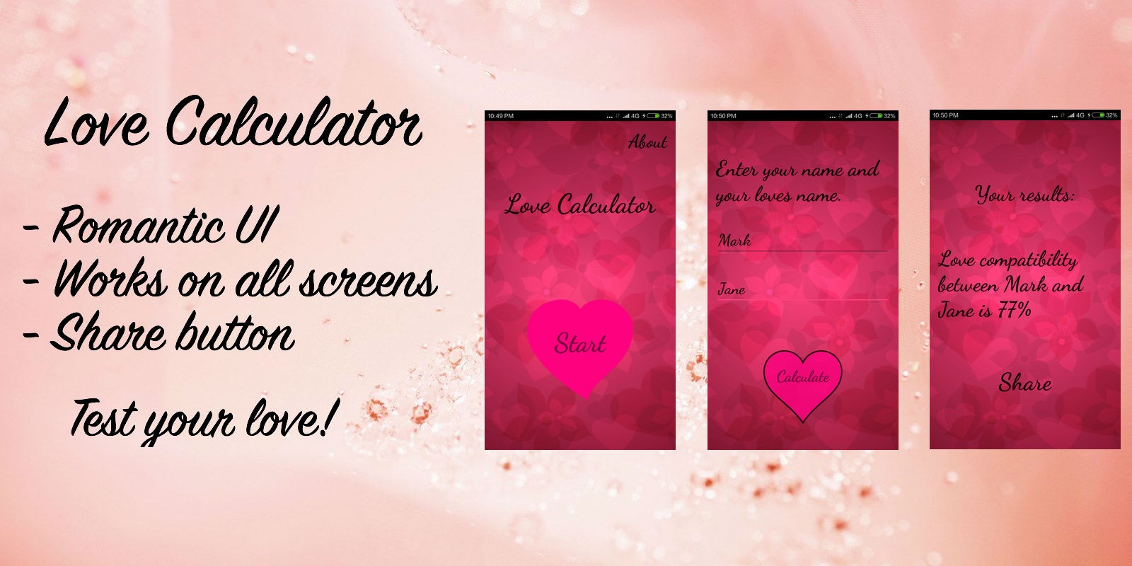 Uncategorized Love Calculate love calculator android app source code miscellaneous code