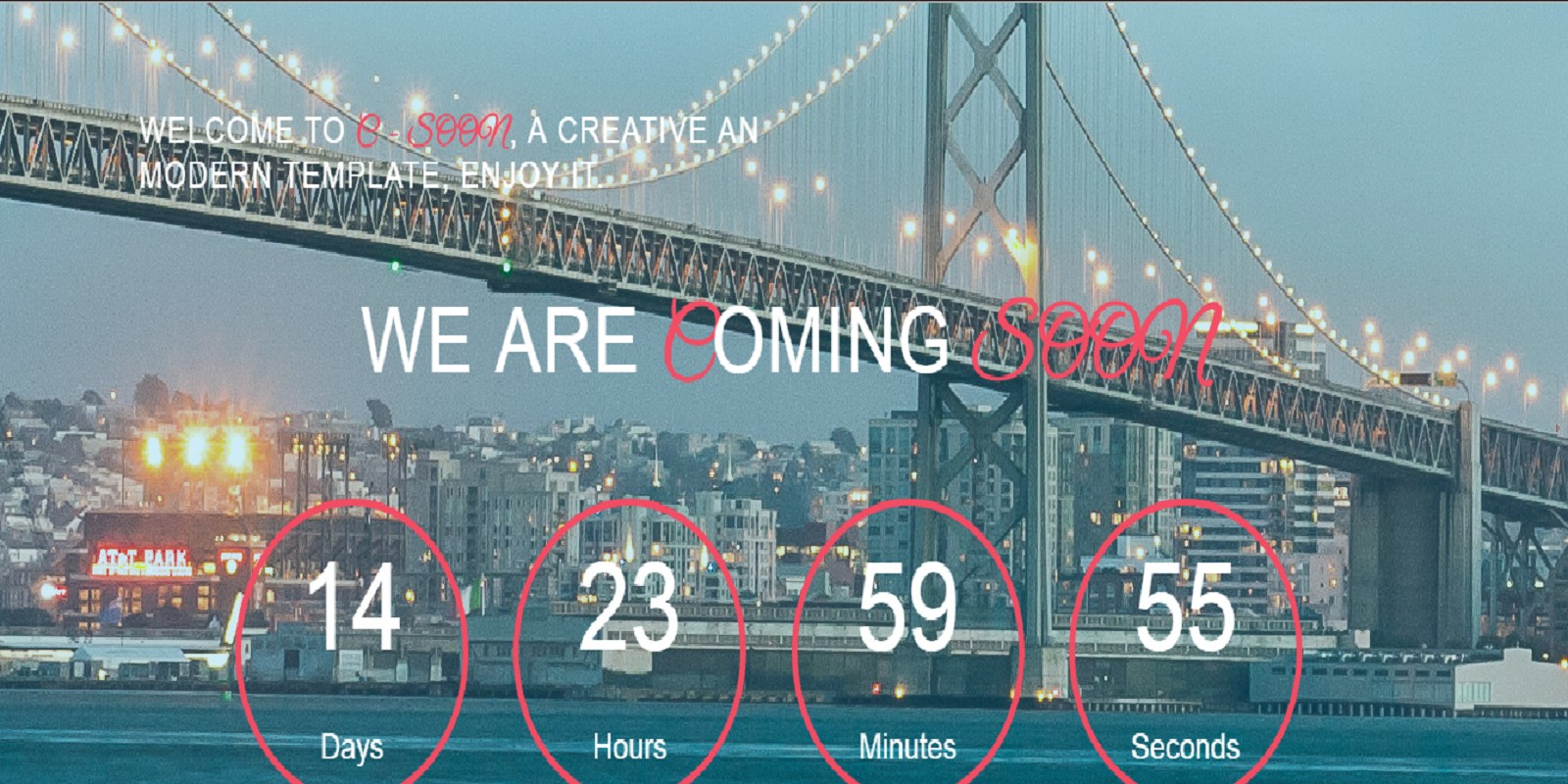 C-Soon - Coming Soon Counter HTML Template