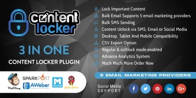 3 In One Wordpress Content Locker Plugin