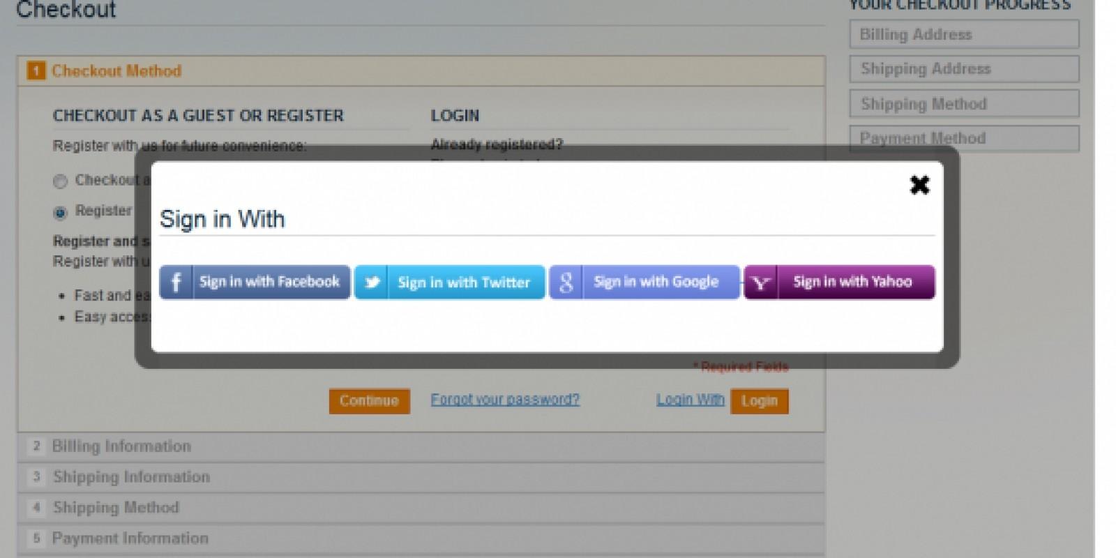 Social Login - Magento Extension