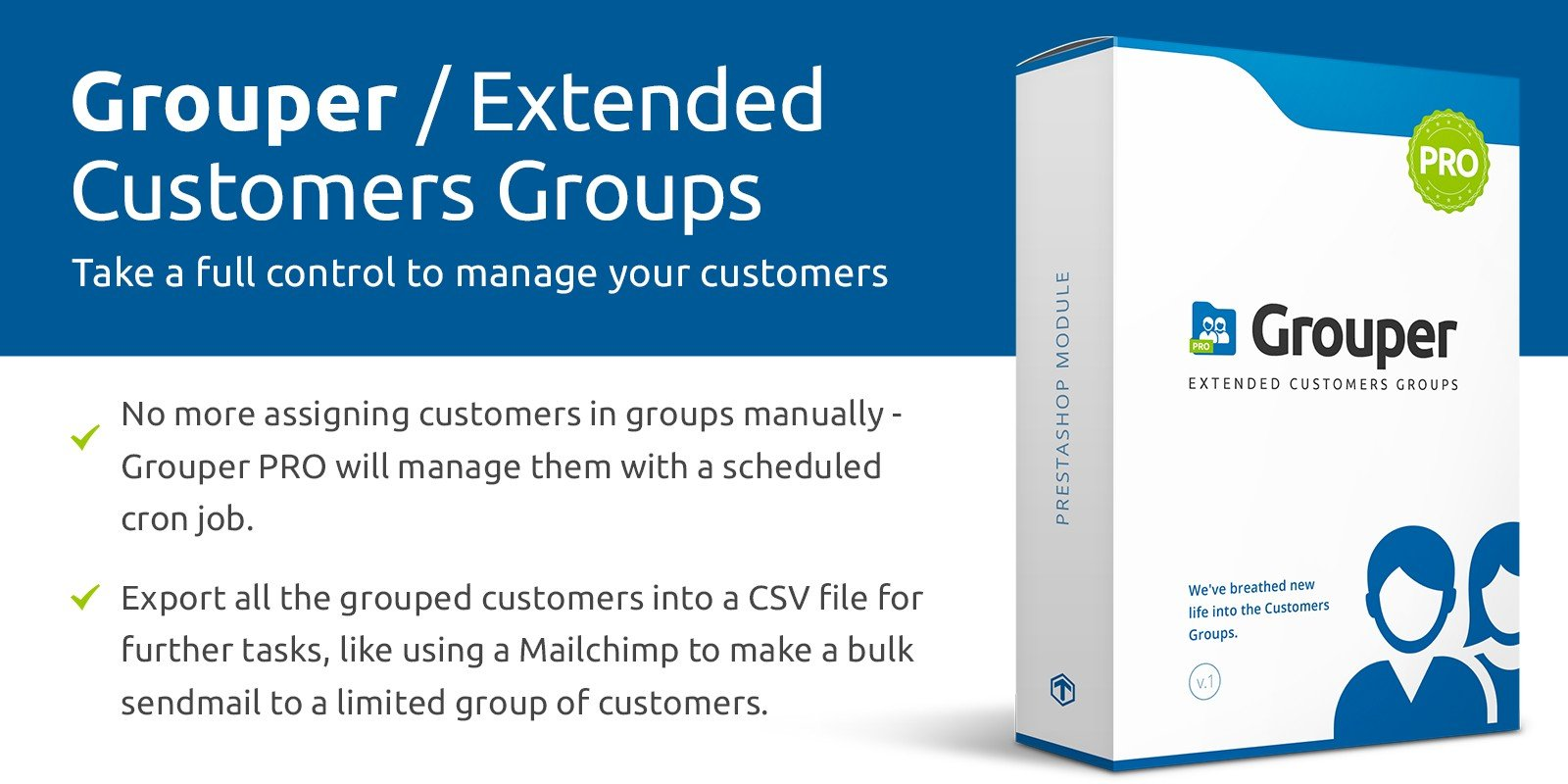 Grouper PRO - Extended Customers Groups