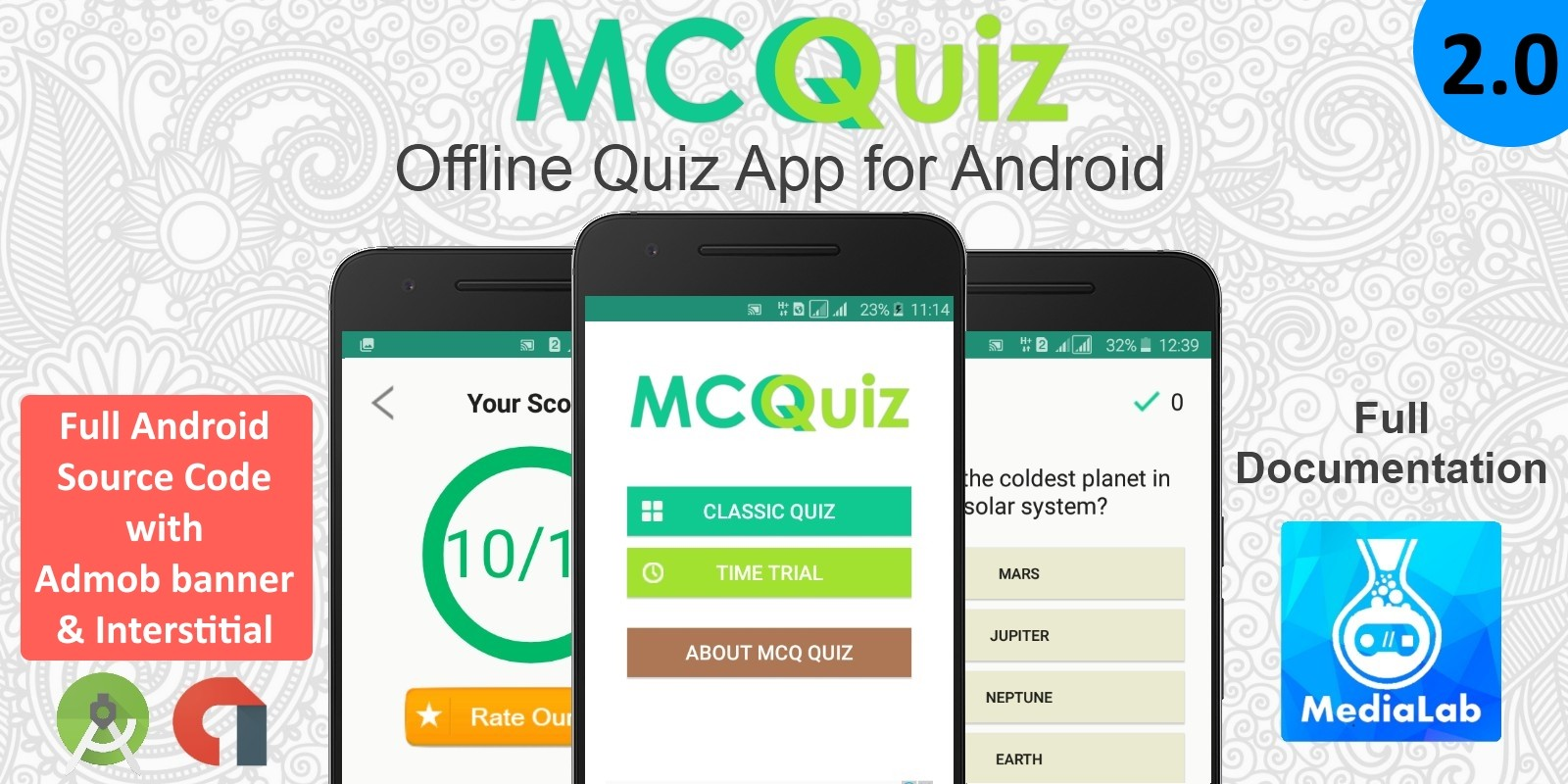 MCQ Quiz - Android Quiz App Template