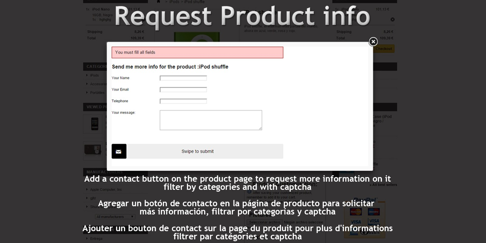 Request Product Info - PrestaShop Module