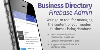 Ionic Business Directory Firebase Admin UI
