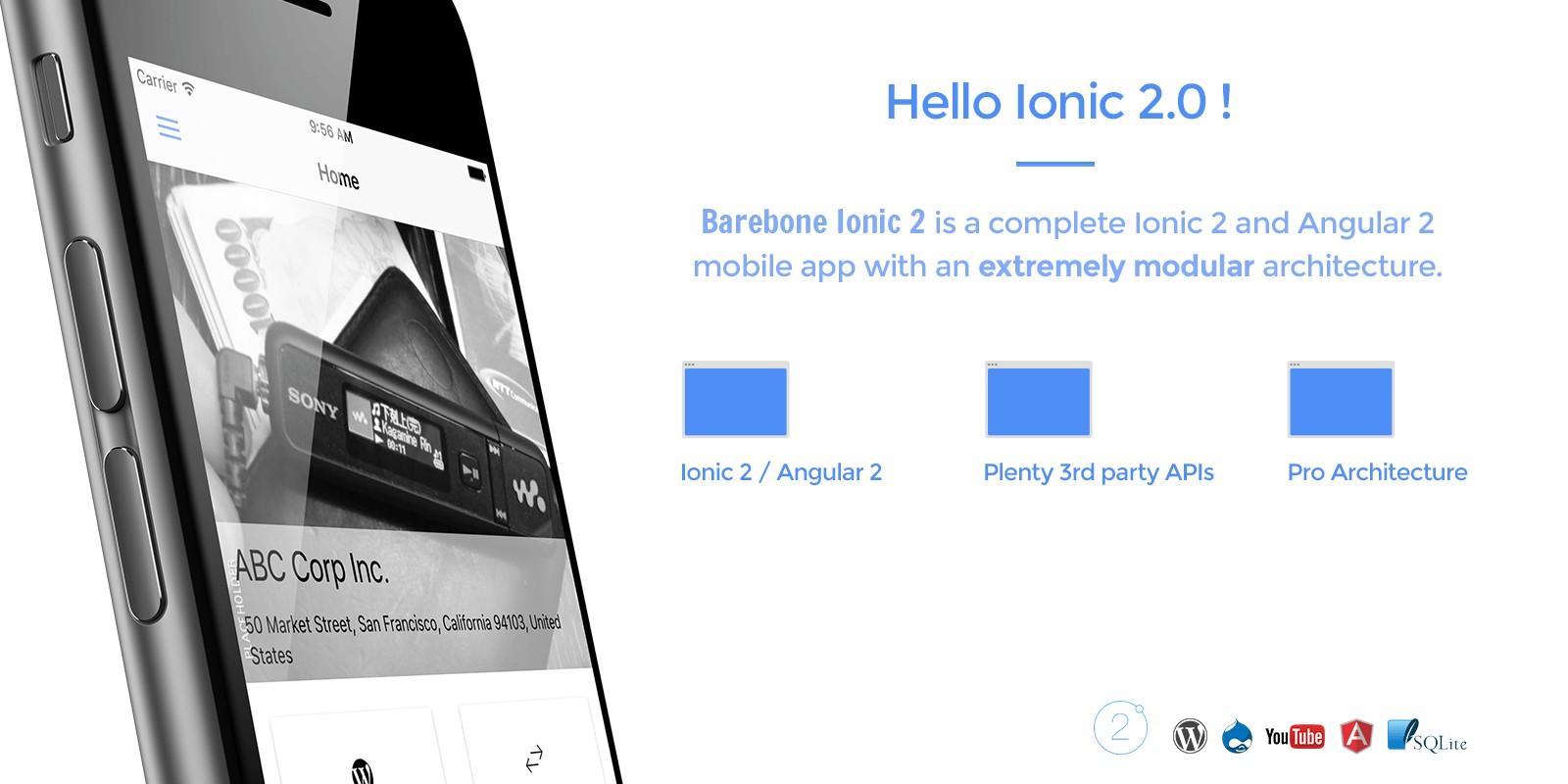 Barebone Ionic 2 - Full App Template - Ionic Templates | Codester