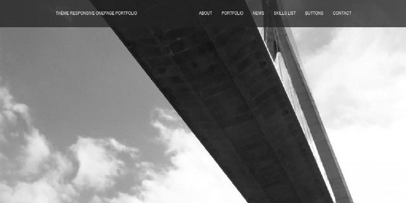 Onepage Portfolio - HTML Template