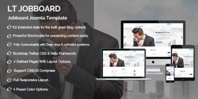 LT Jobboard - Responsive Portal Joomla Template