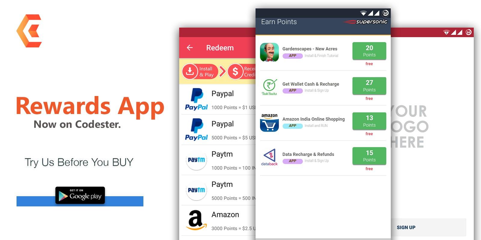 Rewards Android App Source Code