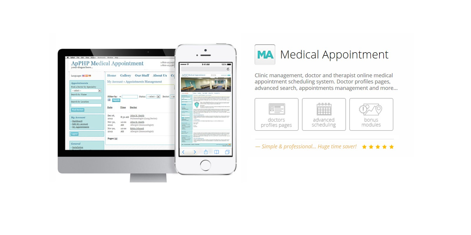 php medical appointment script light | codester