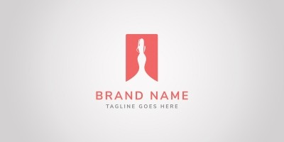 Lady Fashion Logo Template