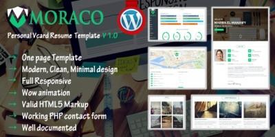 Moraco - Personal Vcard Resume Wordpress Theme