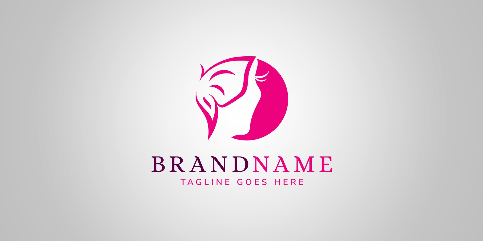Miss Butterfly Logo Template - Fashion Logo Templates | Codester