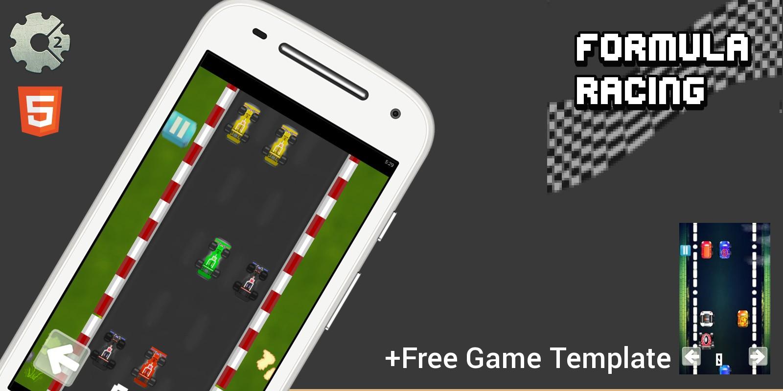 Formula Racing - Construct 2 Game Template