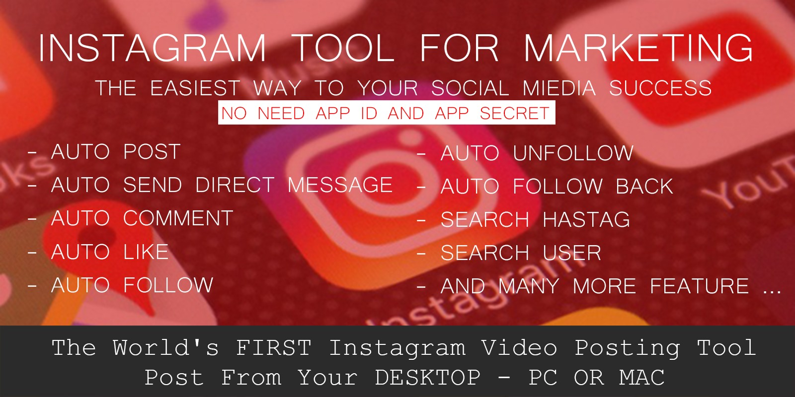 VTGram - Instagram Marketing Tool PHP