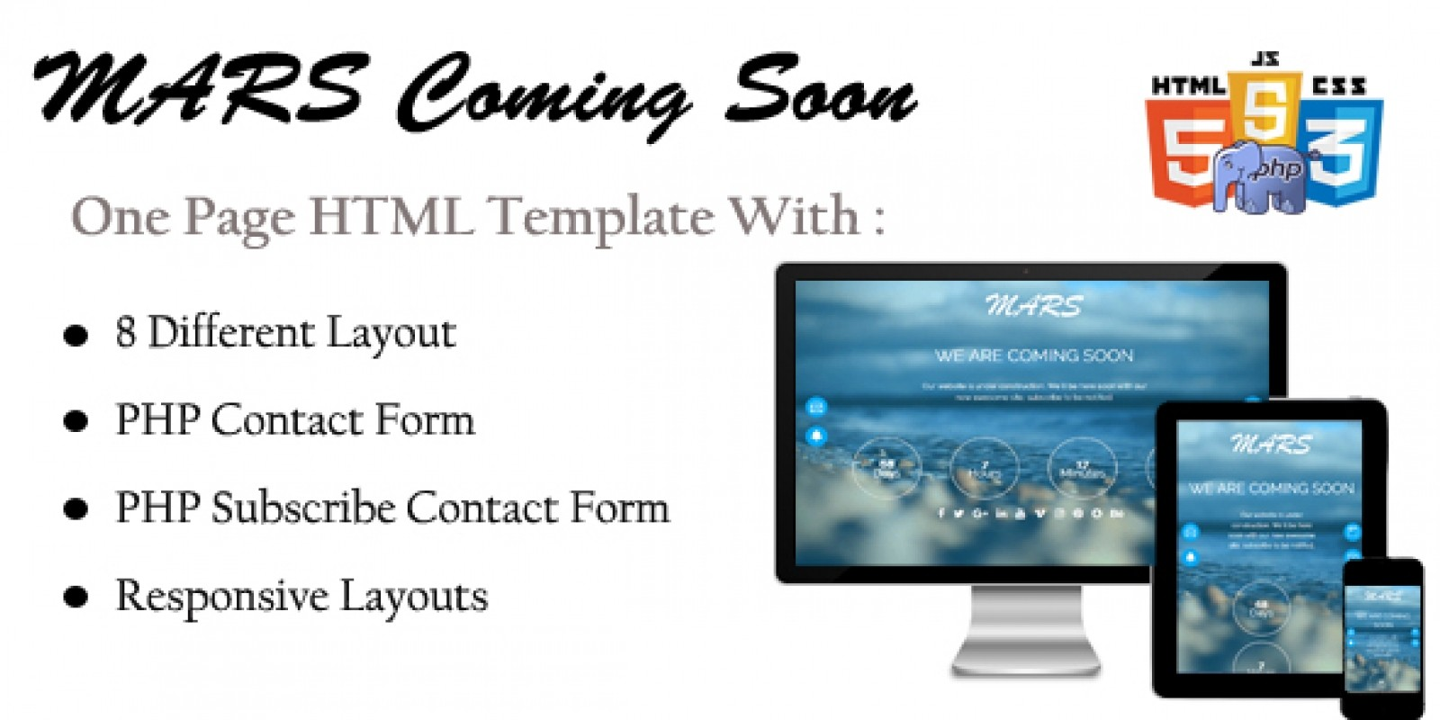 Mars Html Coming Soon Template Codester