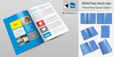 Bifold Flyer Mockup Templates Vol 001