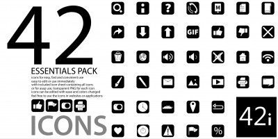 42 Icons - Essential Pack of Icons for Websites