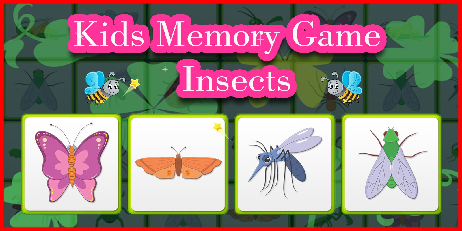 Kids Memory Game Insects - Unity Template | Codester