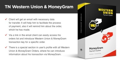 Western Union And MoneyGram PrestaShop Module