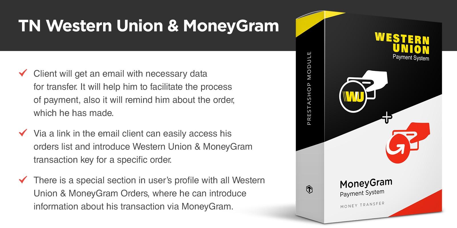 Western Union And MoneyGram PrestaShop Module