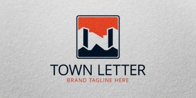 Town Letter Logo Template