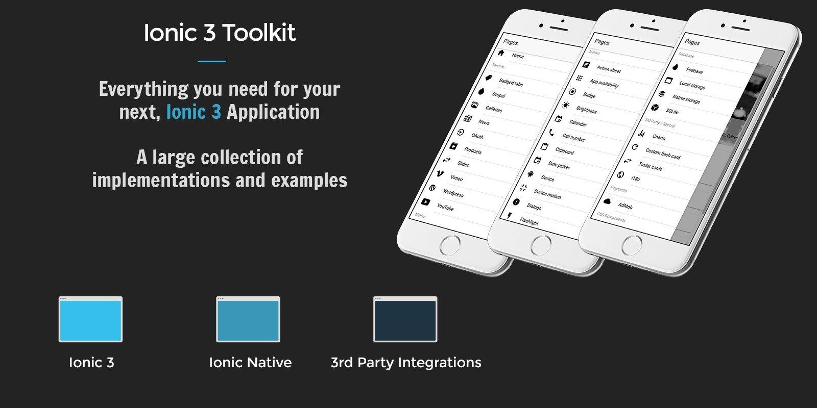 Ionic 3 Toolkit Professional Edition - Ionic Full App Templates ...