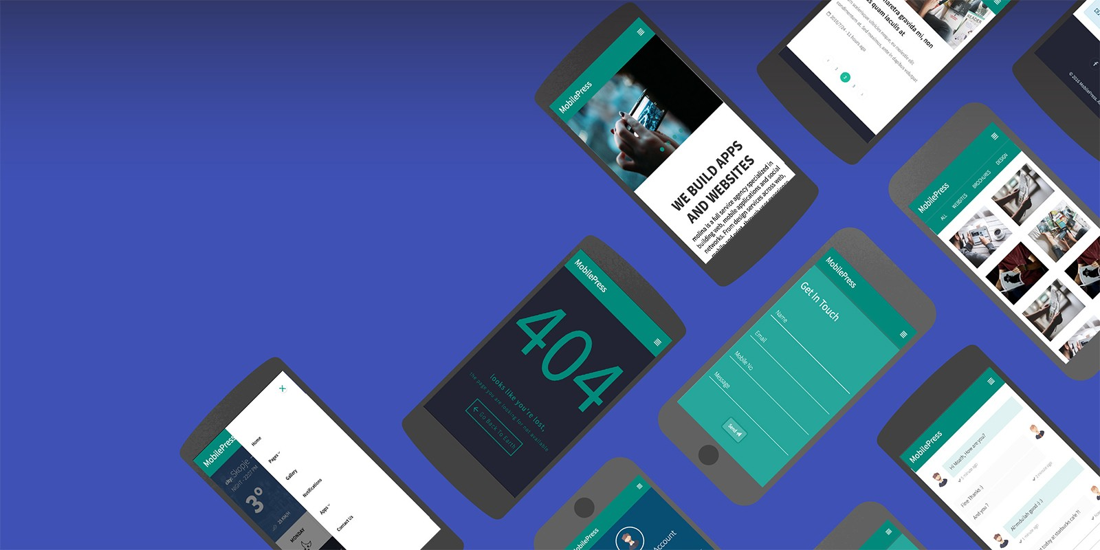 MobilePress - Material Design Mobile Template