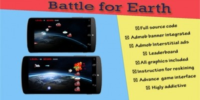 Battle for Earth - Android Game Source Code