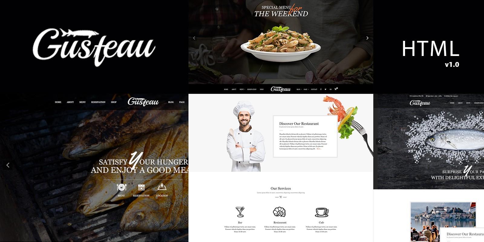 Gusteau Responsive Html Template For Restaurants Codester